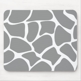 Giraffe Print Pattern in Gray. Mousepads
