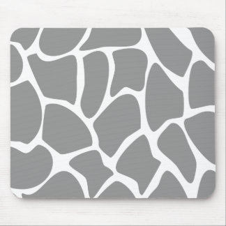Giraffe Print Pattern in Gray. Mouse Pads