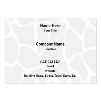 Giraffe Print Pattern in Gray. Pack Of Chubby Business Cards