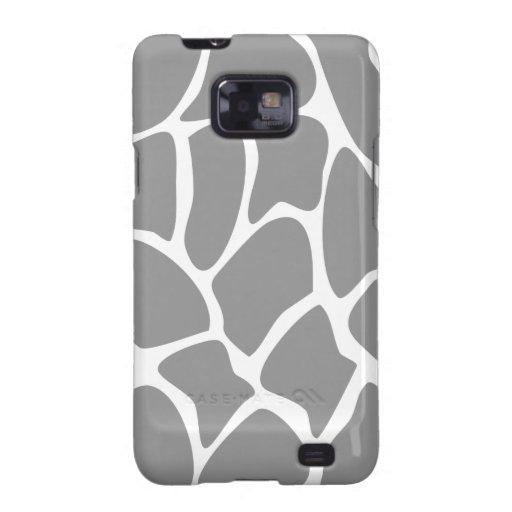 Giraffe Print Pattern in Grey. Galaxy SII Covers