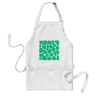 Giraffe Print Pattern in Jade Green. Aprons