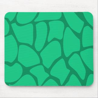 Giraffe Print Pattern in Jade Green Mouse Pad