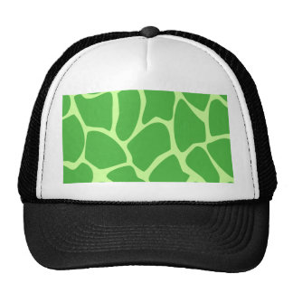 Giraffe Print Pattern in Jungle Green. Cap