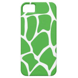 Giraffe Print Pattern in Jungle Green. iPhone 5 Cases