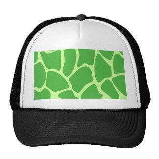 Giraffe Print Pattern in Jungle Green Trucker Hat
