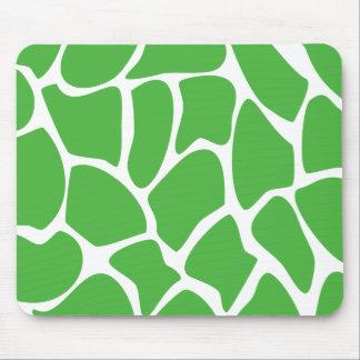 Giraffe Print Pattern in Jungle Green Mousepads