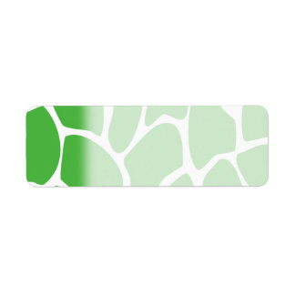 Giraffe Print Pattern in Jungle Green. Return Address Label