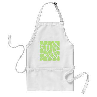 Giraffe Print Pattern in Light Lime Green Aprons