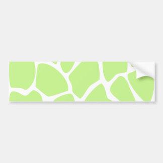 Giraffe Print Pattern in Light Lime Green Bumper Sticker