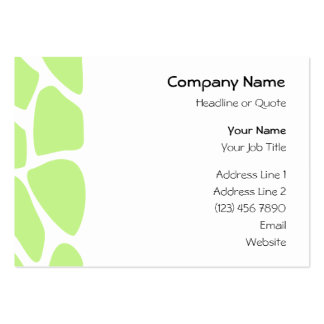 Giraffe Print Pattern in Light Lime Green. Business Cards