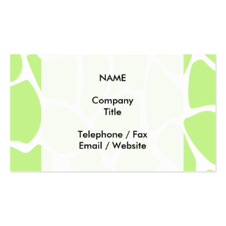 Giraffe Print Pattern in Light Lime Green. Double-Sided Standard Business Cards (Pack Of 100)