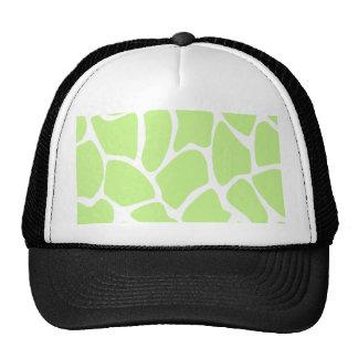 Giraffe Print Pattern in Light Lime Green. Cap