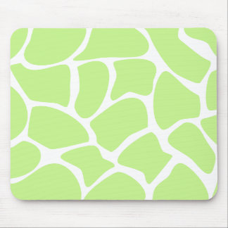 Giraffe Print Pattern in Light Lime Green Mouse Pad