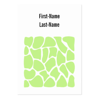 Giraffe Print Pattern in Light Lime Green. Pack Of Chubby Business Cards