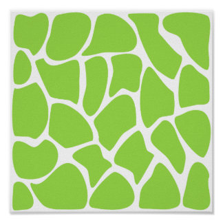 Giraffe Print Pattern in Lime Green.