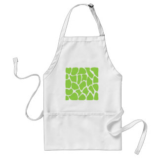 Giraffe Print Pattern in Lime Green. Adult Apron