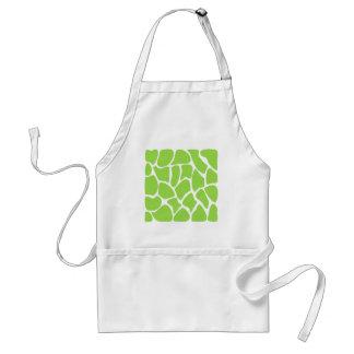 Giraffe Print Pattern in Lime Green. Adult Apron