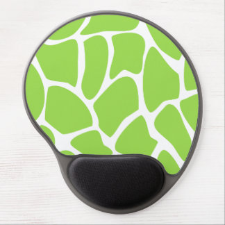 Giraffe Print Pattern in Lime Green. Gel Mousepad