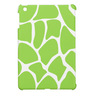 Giraffe Print Pattern in Lime Green. Cover For The iPad Mini