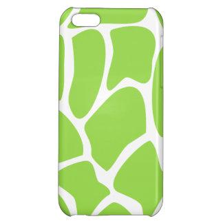 Giraffe Print Pattern in Lime Green. iPhone 5C Covers