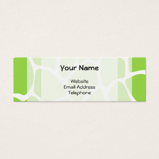 Giraffe Print Pattern in Lime Green. Mini Business Card