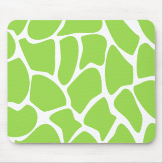 Giraffe Print Pattern in Lime Green Mouse Pad