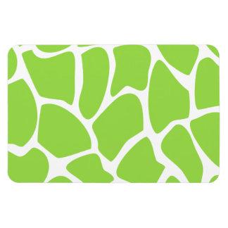 Giraffe Print Pattern in Lime Green. Vinyl Magnets