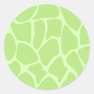 Giraffe Print Pattern in Lime Green. Sticker