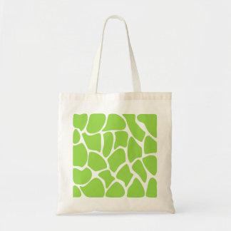 Giraffe Print Pattern in Lime Green. Tote Bag