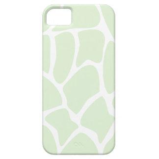 Giraffe Print Pattern in Mint Green. iPhone 5 Cases
