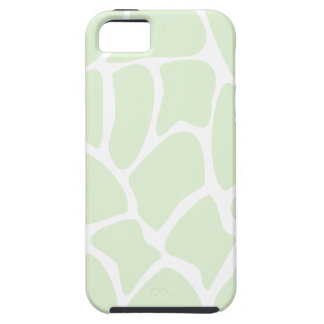 Giraffe Print Pattern in Mint Green. iPhone 5 Case