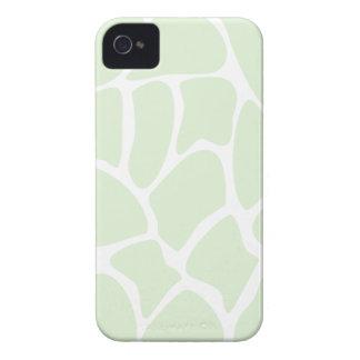 Giraffe Print Pattern in Mint Green. iPhone 4 Case-Mate Cases