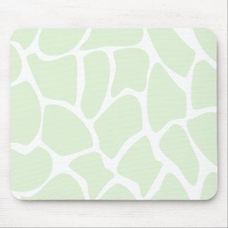 Giraffe Print Pattern in Mint Green. Mouse Pad