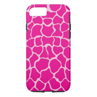 Giraffe Print Pattern in Shades of Pink iPhone 7 Case