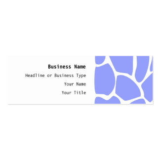 Giraffe Print Pattern in Sky Blue. Double-Sided Mini Business Cards (Pack Of 20)