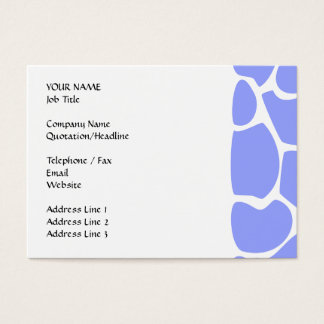 Giraffe Print Pattern in Sky Blue. Business Card