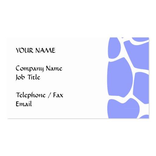 Giraffe Print Pattern in Sky Blue. Business Card