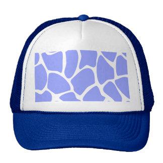 Giraffe Print Pattern in Sky Blue Trucker Hats