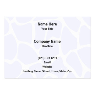 Giraffe Print Pattern in Sky Blue. Pack Of Chubby Business Cards