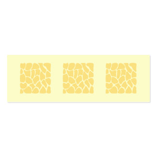 Giraffe Print Pattern in Yellow. Double-Sided Mini Business Cards (Pack Of 20)