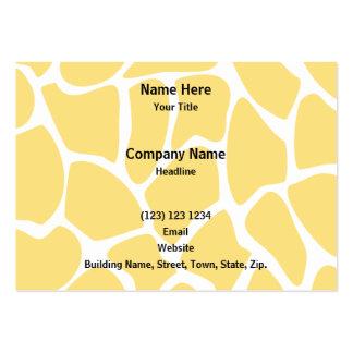 Giraffe Print Pattern in Yellow. Business Card Template