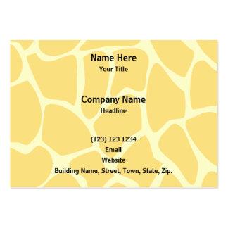 Giraffe Print Pattern in Yellow. Business Cards