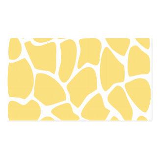 Giraffe Print Pattern in Yellow Business Cards