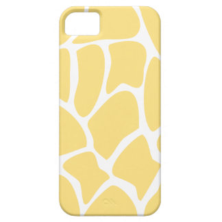Giraffe Print Pattern in Yellow. iPhone 5 Covers