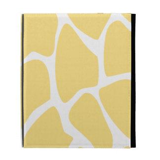 Giraffe Print Pattern in Yellow. iPad Case
