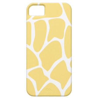 Giraffe Print Pattern in Yellow. iPhone 5 Cases