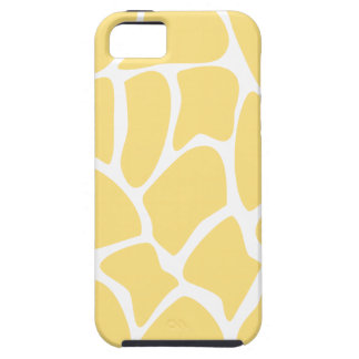 Giraffe Print Pattern in Yellow. iPhone 5 Cases