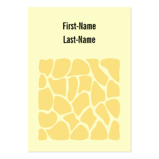 Giraffe Print Pattern in Yellow. Pack Of Chubby Business Cards