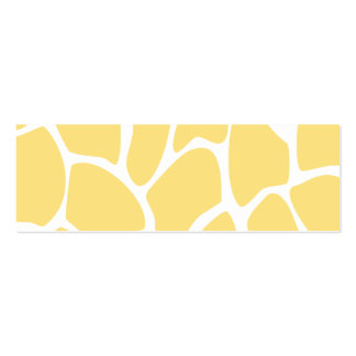 Giraffe Print Pattern in Yellow. Pack Of Skinny Business Cards