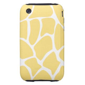 Giraffe Print Pattern in Yellow. Tough iPhone 3 Case